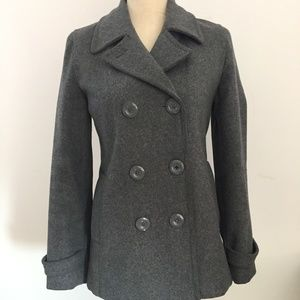 dELiA*s Charcoal Gray Wool Double Breasted Peacoat